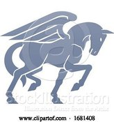 Vector Illustration of Pegasus Winged Horse Concept by AtStockIllustration
