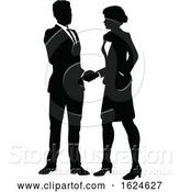 Vector Illustration of People Business Silhouette by AtStockIllustration