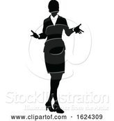 Vector Illustration of People Business Silhouettes by AtStockIllustration