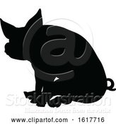 Vector Illustration of Pig Silhouette Farm Animal by AtStockIllustration