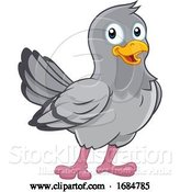 Vector Illustration of Pigeon Cute Dove Bird by AtStockIllustration