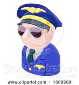Vector Illustration of Pilot Avatar People Icon by AtStockIllustration