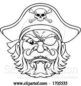 Vector Illustration of Pirate Captain Character Mascot by AtStockIllustration