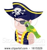 Vector Illustration of Pirate Guy Avatar People Icon by AtStockIllustration