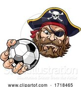 Vector Illustration of Pirate Soccer Football Ball Sports Mascot by AtStockIllustration