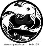 Vector Illustration of Pisces Fish Horoscope Zodiac Sign by AtStockIllustration