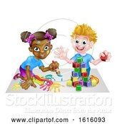 Vector Illustration of Playing Children by AtStockIllustration
