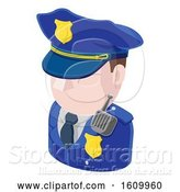 Vector Illustration of Police Guy Avatar People Icon by AtStockIllustration
