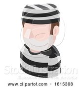 Vector Illustration of Prisoner Guy Avatar People Icon by AtStockIllustration