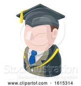 Vector Illustration of Professor Teacher Guy Avatar People Icon by AtStockIllustration