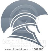 Vector Illustration of Profiled Trojan Spartan Helmet by AtStockIllustration