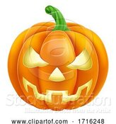 Vector Illustration of Pumpkin Halloween Jack O Lantern by AtStockIllustration