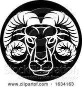 Vector Illustration of Ram Aries Zodiac Horoscope Sign by AtStockIllustration