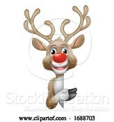 Vector Illustration of Reindeer Christmas Character by AtStockIllustration