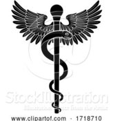 Vector Illustration of Rod of Asclepius Aesculapius Medical Symbol by AtStockIllustration