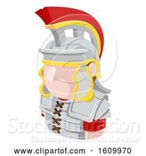 Vector Illustration of Roman Soldier Avatar People Icon by AtStockIllustration