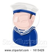 Vector Illustration of Sailor Guy Avatar People Icon by AtStockIllustration