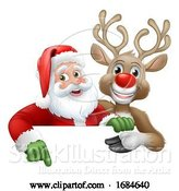 Vector Illustration of Santa Claus and Reindeer Christmas by AtStockIllustration