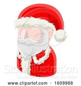 Vector Illustration of Santa Claus Avatar People Icon by AtStockIllustration