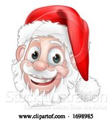 Vector Illustration of Santa Claus Face Christmas Character by AtStockIllustration
