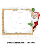 Vector Illustration of Santa Claus Sign Christmas by AtStockIllustration