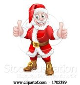 Vector Illustration of Santa Claus Thumbs up Christmas Character by AtStockIllustration