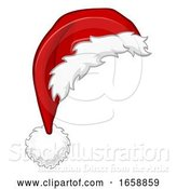 Vector Illustration of Santa Hat Christmas Design Element by AtStockIllustration