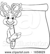 Vector Illustration of Santas Christmas Reindeer Character by AtStockIllustration