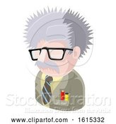 Vector Illustration of Science Geek Guy Avatar People Icon by AtStockIllustration