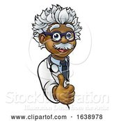 Vector Illustration of Scientist Character Sign Thumbs up by AtStockIllustration