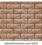 Vector Illustration of Seamless Brick Wall Texture Background by AtStockIllustration