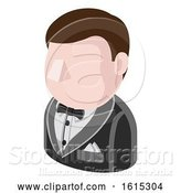 Vector Illustration of Secret Agent Guy Avatar People Icon by AtStockIllustration