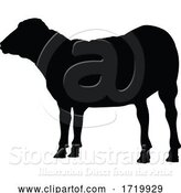 Vector Illustration of Sheep or Lamb Farm Animal in Silhouette by AtStockIllustration