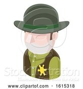 Vector Illustration of Sheriff Cowboy Guy Avatar People Icon by AtStockIllustration
