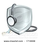 Vector Illustration of Shield Stethoscope Medical Health Concept by AtStockIllustration