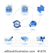 Vector Illustration of Shiny Blue Browser Icons by AtStockIllustration