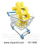 Vector Illustration of Shopping Cart Bitcoin Concept by AtStockIllustration