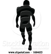 Vector Illustration of Silhouette American Football Player by AtStockIllustration