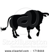 Vector Illustration of Silhouette Bull by AtStockIllustration
