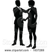Vector Illustration of Silhouette Business People by AtStockIllustration