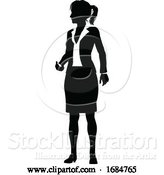 Vector Illustration of Silhouette Business Person by AtStockIllustration