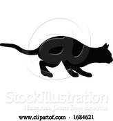 Vector Illustration of Silhouette Cat Pet Animal by AtStockIllustration