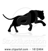 Vector Illustration of Silhouette Lion, on a White Background by AtStockIllustration