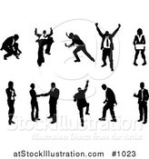Vector Illustration of Silhouetted Business People Collection by AtStockIllustration