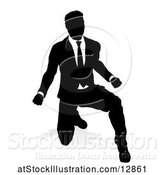 Vector Illustration of Silhouetted Businessman, with a Shadow on a White Background by AtStockIllustration