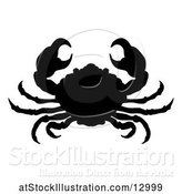 Vector Illustration of Silhouetted Crab by AtStockIllustration