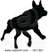 Vector Illustration of Silhouetted Dog by AtStockIllustration