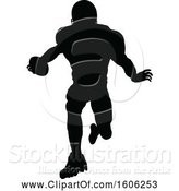 Vector Illustration of Silhouetted Football Player by AtStockIllustration