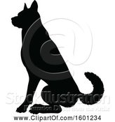 Vector Illustration of Silhouetted German Shepherd Dog by AtStockIllustration