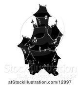 Vector Illustration of Silhouetted Haunted House by AtStockIllustration